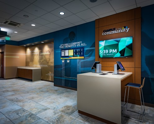 lobby at Campus Federal Credit Union, New Orleans, LA | DonahueFavret General Contractors Louisiana and Gulf South