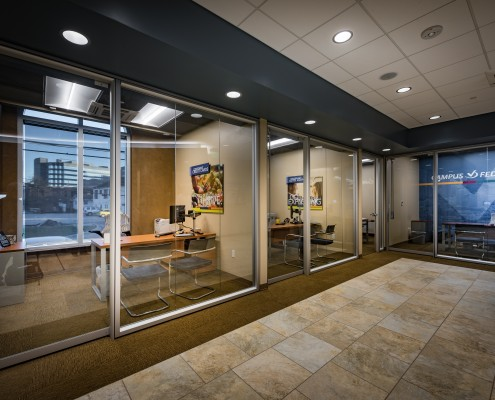 offices of Campus Federal Credit Union, New Orleans, LA | DonahueFavret General Contractors Louisiana and Gulf South