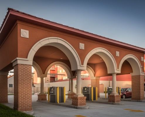 drive thru at Campus Federal Credit Union, New Orleans, LA | DonahueFavret General Contractors Louisiana and Gulf South
