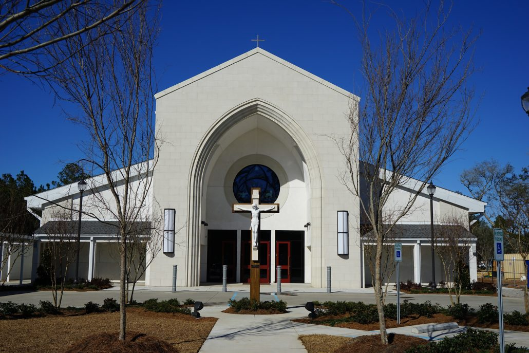 exterior of Most Holy Trinity Church, Covington, LA | DonahueFavret General Contractors Louisiana and Gulf South