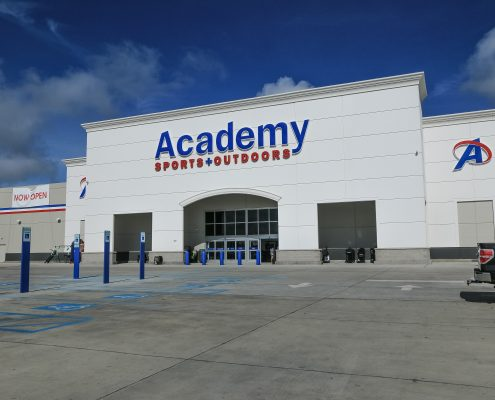 facade of Academy Thibodaux, LA | DonahueFavret General Contractors Louisiana and Gulf South