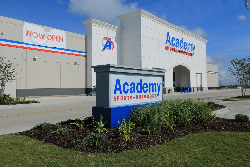 academy sports outdoors retail thibodaux louisiana construction donahuefavret commercial
