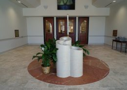 baptismal font in Most Holy Trinity Church | DonahueFavret General Contractors Louisiana and Gulf South