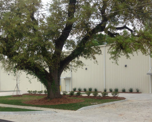 exterior of Mele Printing Expansion, Covington, LA | DonahueFavret General Contractors Louisiana and Gulf South