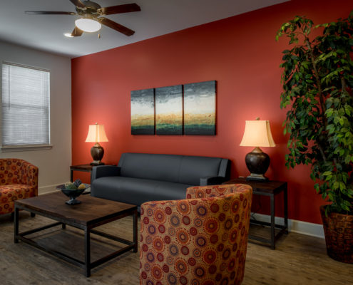 DonahueFavret General Contractor, Louisiana and Gulf South | Bayou Cane Apartments, Houma, LA living area