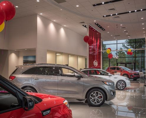 DonahueFavret General Contractor, Louisiana and Gulf South | KIA of Covington, LA showroom