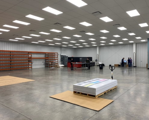 interior space of Tele Large Format Printing Building | DonahueFavret General Contractor | Louisiana and Gulf South