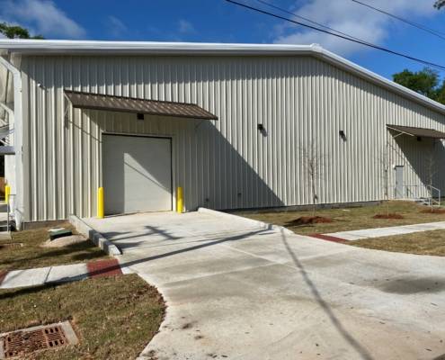 side view of Mele Large Format Building | DonahueFavret General Contractor | Louisiana and Gulf South