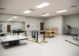 PT room at AMG Rehab Covington, LA | DonahueFavret General Contractors Louisiana and Gulf South