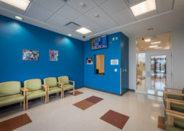 reception area in Desire Street Ministries, New Orleans, LA Daughters of Charity Health Center | DonahueFavret General Contractors Louisiana and Gulf South