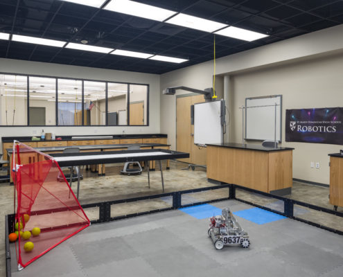 robotics classroom in Dominican High School, New Orleans, LA | DonahueFavret General Contractors Louisiana and Gulf South
