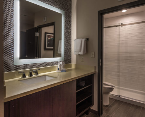 room bathroom in Fairfield Inn & Suites New Orleans | DonahueFavret General Contractors Louisiana and Gulf South
