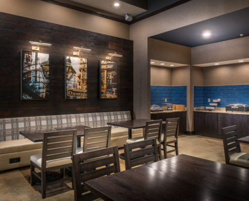 breakfast area in Fairfield Inn & Suites New Orleans | DonahueFavret General Contractors Louisiana and Gulf South