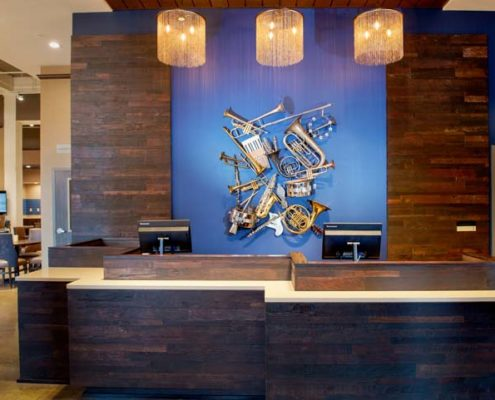 front desk of Fairfield Inn & Suites | DonahueFavret General Contractors Louisiana and Gulf South