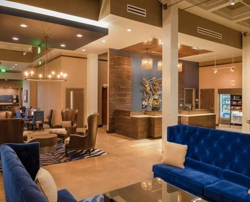 lobby in Fairfield Inn & Suites | DonahueFavret General Contractors Louisiana and Gulf South