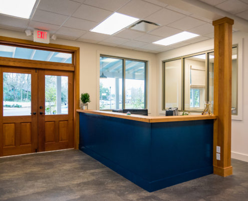 reception area in Northshore Community Foundation | DonahueFavret General Contractors Louisiana and Gulf South