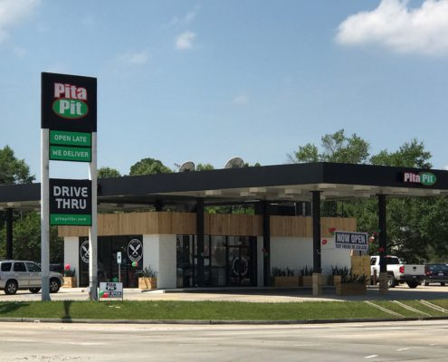 exterior of Pita Pit Baton Rouge | DonahueFavret General Contractor Louisiana and Gulf South
