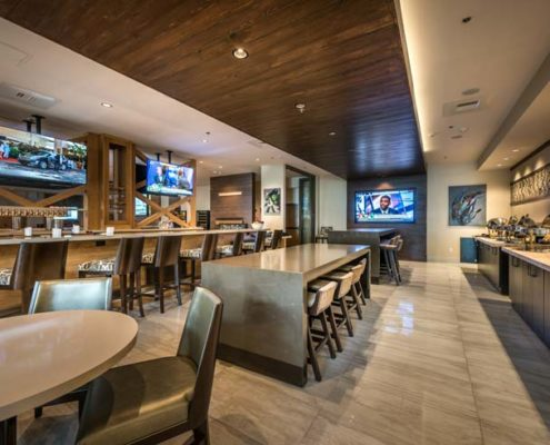 Baton Rouge Marriott breakfast area | DonahueFavret General Contractors Louisiana and Gulf South
