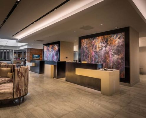 Baton Rouge Marriott lobby | DonahueFavret General Contractors Louisiana and Gulf South