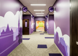 First Baptist Church Covington Education Building hallway | DonahueFavret General Contractors Louisiana and Gulf South
