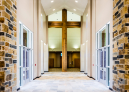 First Baptist Church Covington Commons entry | DonahueFavret General Contractors Louisiana and Gulf South