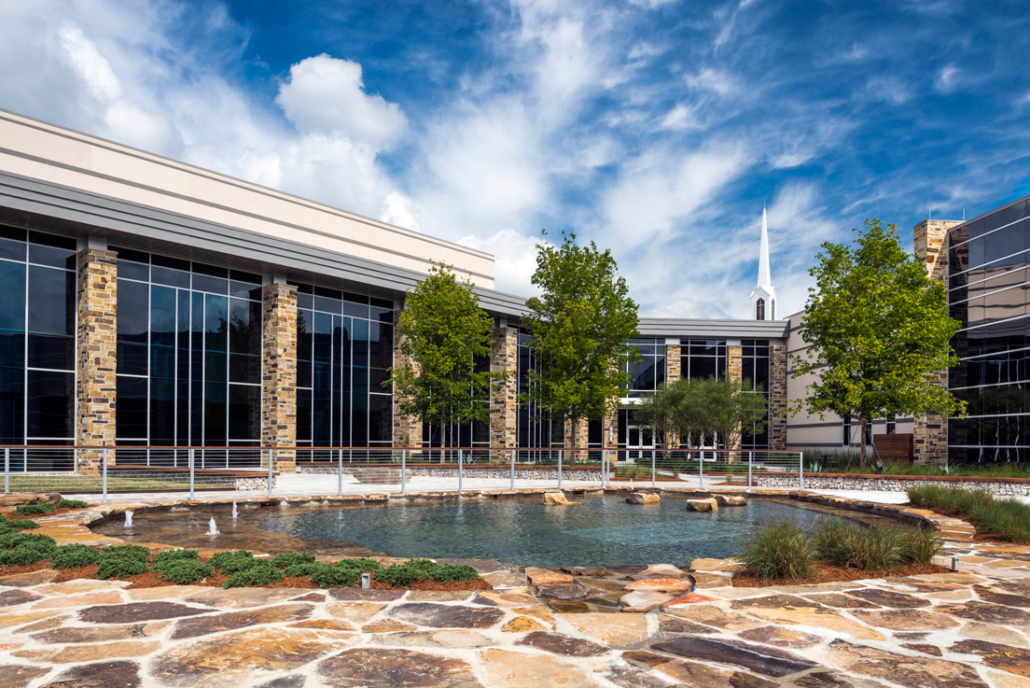 First Baptist Church Covington baptismal pool | DonahueFavret General Contractors Louisiana and Gulf South