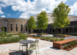 First Baptist Church Covington courtyard | DonahueFavret General Contractors Louisiana and Gulf South