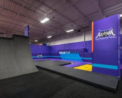 Altitude Trampoline Park, Slidell, LA interior | DonahueFavret General Contractors Louisiana and Gulf South
