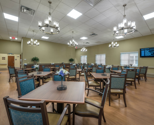 Multi-purpose room at Greenbriar Community Care Center | DonahueFavret General Contractors | Louisiana and Gulf South