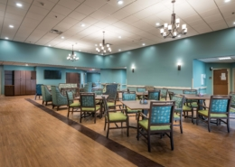 Gathering/Dining Area Camelot Community Care | DonahueFavret Contractors | Louisiana and Gulf South