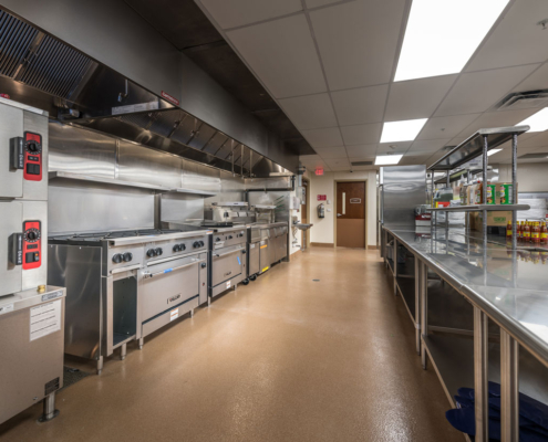 Kitchen at Greenbriar Community Care Center | DonahueFavret General Contractors | Louisiana and Gulf South