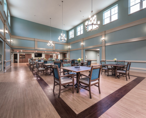 Dining Room at Greenbriar Community Care Center | DonahueFavret General Contractors | Louisiana and Gulf South