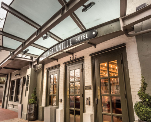 Mercantile Hotel entry | DonahueFavret General Contractors, Louisiana and Gulf South