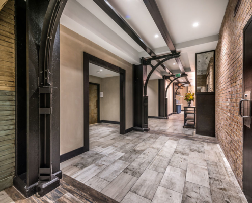 Mercantile Hotel hallway | DonahueFavret General Contractors, Louisiana and Gulf South