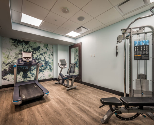 Mercantile Hotel fitness room | DonahueFavret General Contractors, Louisiana and Gulf South