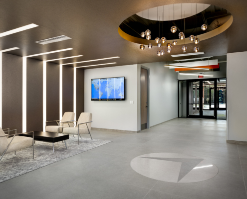 Globalstar Headquarters lobby | DonahueFavret General Contractor, Louisiana and Gulf South