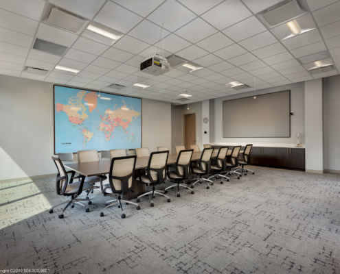Globalstar Headquarters conference room | DonahueFavret General Contractor, Louisiana and Gulf South