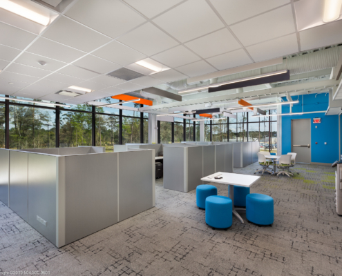 Globalstar Headquarters office interior | DonahueFavret General Contractor, Louisiana and Gulf South