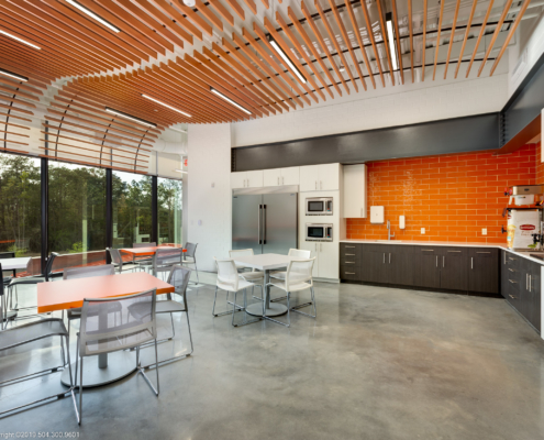 Globalstar Headquarters interior | DonahueFavret General Contractor, Louisiana and Gulf South
