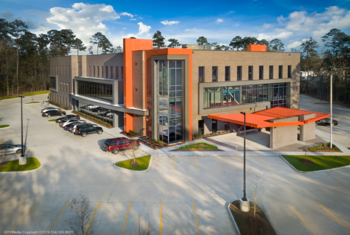 Globalstar Headquarters exterior | DonahueFavret General Contractor, Louisiana and Gulf South