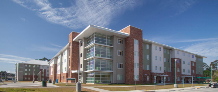 exterior of Southeastern University Student Housing | DonahueFavret General Contractor, Louisiana and Gulf South