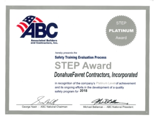 DonahueFavret General Contractors, Louisiana and Gulf South | Safety Training Evaluation Process Award