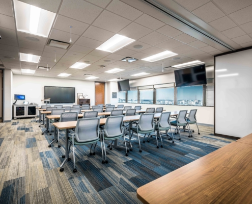 Classroom at Tulane University Murphy Building 12th Floor | DonahueFavret General Contractor, Louisiana and Gulf South