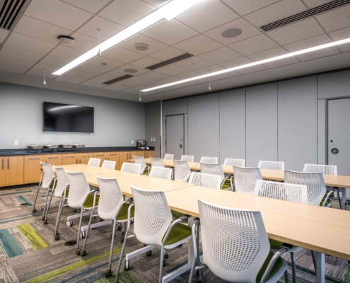 Meeting Room at Tulane University Murphy Building 12th Floor | DonahueFavret General Contractor, Louisiana and Gulf South