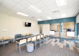 Lobby in NOEH Pontchartrain Clinic | DonahueFavret General Contractor, Louisiana and Gulf South