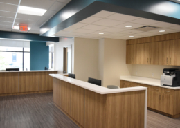 Nurses Station at NOEH Pontchartrain Clinic | DonahueFavret General Contractor, Louisiana and Gulf South