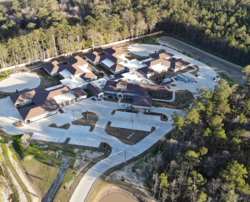 Aerial View of at Trinity Trace Community Care Center, Covington LA | DonahueFavret General Contractor, Louisiana and Gulf South