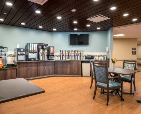 Cafe at at Trinity Trace Community Care Center, Covington LA | DonahueFavret General Contractor, Louisiana and Gulf South
