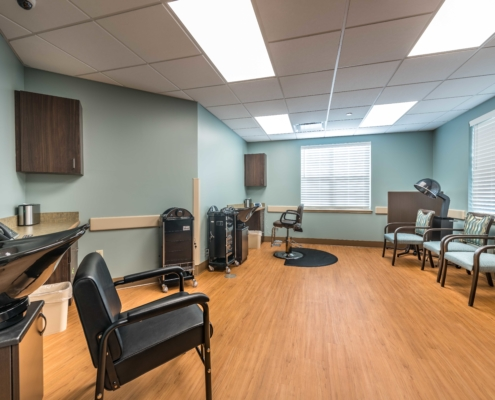 Beauty Salon at at Trinity Trace Community Care Center, Covington LA | DonahueFavret General Contractor, Louisiana and Gulf South
