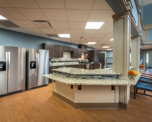 Warming Kitchen at at Trinity Trace Community Care Center, Covington LA | DonahueFavret General Contractor, Louisiana and Gulf South